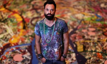 Arts and Culture - Artist Sacha Jafri poses for a portrait on September 09, 2020 in Dubai, United Arab Emirates. Sacha Jafri is embarking on a global initiative to create the World's largest painting on canvas. (Photo: Francois Nel/Getty Images)