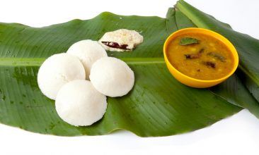 FOOD - South Indian dishes Idli, Sambhar, and Chutney  on Banana leaf (Photo: iStock).