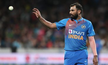IPL - Indias Mohammed Shami looks to bowl during the third Twenty20 cricket match between New Zealand and India at Seddon Park in Hamilton on January 29, 2020. (Photo by MICHAEL BRADLEY / AFP) (Photo by MICHAEL BRADLEY/AFP via Getty Images)