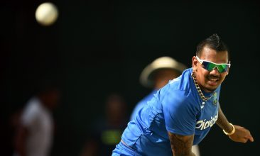 IPL - West Indies' Sunil Narine delivers a ball during a practice session at the Queen's Park Oval in Port of Spain, Trinidad, on March 28, 2017.  West Indies will face Pakistan for the second of four-T20I-match on March 30. Pakistan is leading the series 1-0.  / AFP PHOTO / Jewel SAMAD        (Photo credit should read JEWEL SAMAD/AFP via Getty Images)