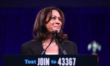 HEADLINE STORY - US Democratic vice presidential candidate Kamala Harris speaks during the Democratic National Committee's summer meeting in San Francisco, California. (Photo by JOSH EDELSON/AFP via Getty Images)