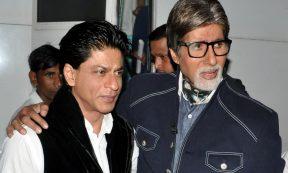 TOP LISTS - Shah Rukh Khan, Amitabh Bachchan (Photo by STRDEL/AFP via Getty Images)