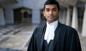 FEATURES - PROFESSIONAL ETHICS: Danny Ashok stars as barrister Luke Strand in political thriller Roadkill (Photo credit: BBC/The Forge/Steffan Hill)