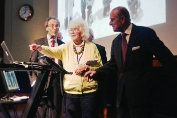 Column - Jan Morris (centre) with Prince Philip (Photo: Yui Mok - WPA Pool/Getty Images).