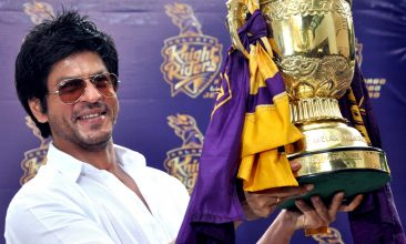 CRICKET - Indian Bollywood actor and Indian Premier League franchise Kolkata Knight Rider's co-owner Shah Rukh Khan poses with the IPL trophy during a press conference in Mumbai on May 30, 2012. Kolkata Knight Riders claimed victory in the annual IPL Twenty20 cricket tournament final on May 27, beating defending champions Chennai Super Kings by five wickets. AFP PHOTO/STR        (Photo credit should read STRDEL/AFP/GettyImages)