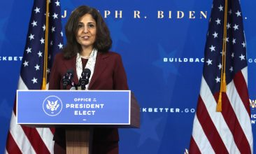 HEADLINE STORY - FILE PHOTO: Director of the Office of Management and Budget nominee Neera Tanden speaks during an event to name President-elect Joe Biden's economic team at the Queen Theater on December 1, 2020 in Wilmington, Delaware. (Photo by Alex Wong/Getty Images)