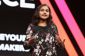 HEADLINE STORY - FILE PHOTO: Gitanjali Rao speaks onstage during The 2018 MAKERS Conference at NeueHouse Hollywood on February 6, 2018 in Los Angeles, California.  (Photo by Rachel Murray/Getty Images for MAKERS)