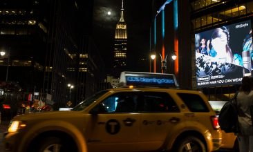 Travel - NEW YORK, NY - SEPTEMBER 27: In this handout provided by the National Aeronautics and Space Administration (NASA), a perigee full moon, or supermoon, is seen next to the Empire State Building on September 27, 2015 in New York City.  The combination of a supermoon and total lunar eclipse last occurred in 1982 and will not happen again until 2033.  (Photo by Joel Kowsky/ NASA via Getty Images)