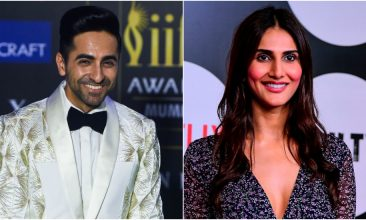 TOP LISTS - Ayushmann Khurrana (Photo by PUNIT PARANJPE/AFP via Getty Images), Vaani Kapoor (Photo by SUJIT JAISWAL/AFP via Getty Images)