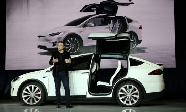 Business - Tesla CEO Elon Musk speaks during an event to launch the new Tesla Model X Crossover SUV  (Photo by Justin Sullivan/Getty Images)
