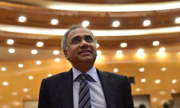 Business - FILE PHOTO: Infosys CEO and Managing Director Salil Parekh. (MANJUNATH KIRAN/AFP via Getty Images)