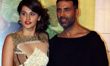 Entertainment - Taapsee Pannu, Akshay Kumar (Photo by STRDEL/AFP via Getty Images)