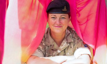 FEATURES - COMBINING PASSIONS: Lieutenant Colonel Wendy Faux is the British Army's lead for arts engagement