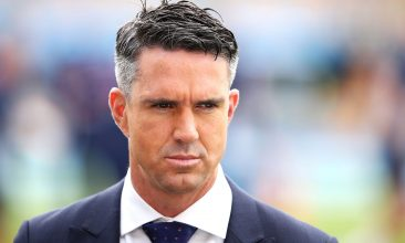 HEADLINE STORY - BRISBANE, AUSTRALIA - NOVEMBER 23:  Kevin Pietersen of the Channel Nine commentary team looks on as he waits to speak on air before play on day one of the First Test Match of the 2017/18 Ashes Series between Australia and England at The Gabba on November 23, 2017 in Brisbane, Australia.  (Photo by Mark Kolbe/Getty Images)