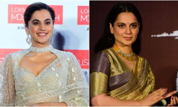 Entertainment - Taapsee Pannu, Kangana Ranaut (Photo by SUJIT JAISWAL/AFP via Getty Images)