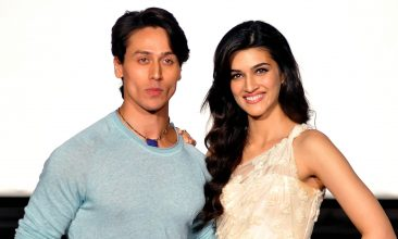 Entertainment - Tiger Shroff (L) and Kriti Sanon (Photo credit: STR/AFP via Getty Images)