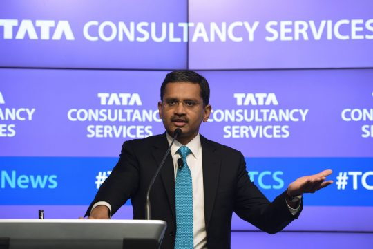 Business - India's Tata Consultancy Services (TCS) CEO and Managing Director Rajesh Gopinathan (Photo by PUNIT PARANJPE / AFP)