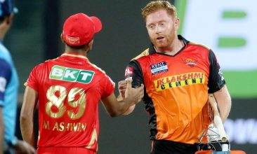 CRICKET - Jonny Bairstow of Sunrisers Hyderabad at the end of a match in IPL 2021. (PTI Photo)
