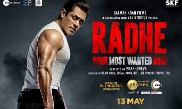 TOP LISTS - Radhe poster (Photo from Zee Studios' Twitter)