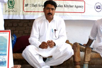 FEATURES - This photograph taken on July 22, 2010, shows Pakistani surgeon Shakeel Afridi, who was working for CIA to help find Osama bin Laden, attending a Malaria control campaign in Khyber tribal district.   Pakistan's problematic relationship with the United States sailed into fresh controversy as US lawmakers warned of aid cuts after the jailing of a surgeon who helped the CIA hunt down Osama bin Laden. Shakeeel Afridi was found guilty of treason, sentenced to 33 years in prison and fined 320,000 rupees (3,500 USD) under an archaic tribal justice system that has governed Pakistan's semi-autonomous tribal belt since British rule. AFP PHOTO / MOHAMMAD RAUF        (Photo credit should read MOHAMMAD RAUF/AFP/GettyImages)