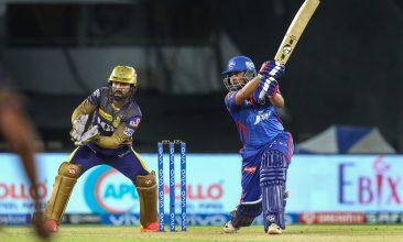 CRICKET - Prithvi Shaw bats during Delhi Capitals match against Kolkata Knight Riders in IPL 2021. (PTI Photo)