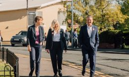 HEADLINE STORY - (From left) Pontefract and Castleford MP Yvette Cooper, with Tracy Brabin and Sir Keir Starmer. (Photo: LDRS)