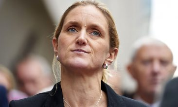 HEADLINE STORY - FILE PHOTO: Sister of murdered Labour MP Jo Cox, Kim Leadbeater, delivers a statement outside the Old Bailey criminal court in London on November 23, 2016, following the conviction of Jo's killer Thomas Mair. (NIKLAS HALLE'N/AFP via Getty Images)