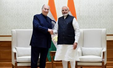 NEWS - His Highness Prince Karim Aga Khan calls on the Prime Minister, Shri Narendra Modi, in New Delhi on February 21, 2018.