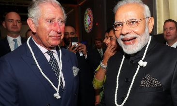 HEADLINE STORY - Britain's Prince Charles and India's Prime Minister Narendra Modi visit the science museum in London, April 18, 2018. REUTERS/Hannah McKay/Pool