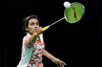 BADMINTON - Pv Sindhu in action