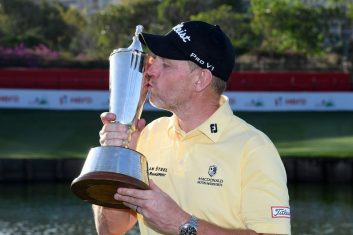 GOLF - Gallacher claims Indian Open golf with son as caddy