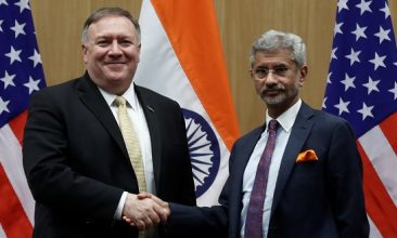 HEADLINE STORY - US Secretary of State Mike Pompeo and India's Foreign Minister Subrahmanyam Jaishankar shake hands at a joint news conference after a meeting in New Delhi, India, June 26, 2019 (REUTERS/Adnan Abidi).