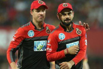 CRICKET - AB de Villiers and Virat Kohli