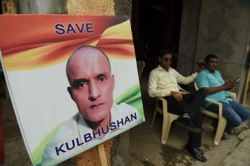HEADLINE STORY - Pakistan has rejected India's demand that an Indian lawyer or a Queen's counsel should be appointed for death-row prisoner Kulbhushan Jadhav. (Photo: INDRANIL MUKHERJEE/AFP/Getty Images).