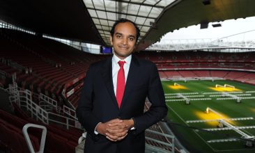 FOOTBALL - File photo of Arsenal CEO, Vinai Venkatesham. (Credit: Arsenal Football Club/David Price)