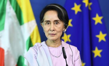 HEADLINE STORY - Civilian leader Aung San Suu Kyi admitted at the International Court of Justice in December, that disproportionate force may have been used. (EMMANUEL DUNAND/AFP via Getty Images)