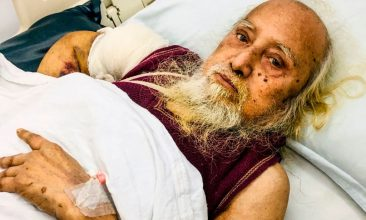 BANGLADESH - In this photograph taken on January 17, 2020, former businessman Habibur Rahman looks on as he lies in a bed at a hospital in Sylhet. (Photo by STR/AFP via Getty Images)