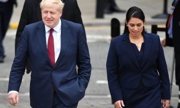 """HEADLINE STORY - Home Secretary Priti Patel said she had worked with Prime Minister Boris Johnson for many years, and that he was """"absolutely not a racist"""". (Photo: Ben Stansall/AFP via Getty Images)"""