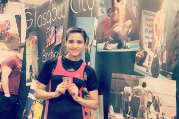 PAKISTAN - Pakistani weightlifter Rabia Shahzad, after winning a gold medal at the Glasgow Open Weightlifting Championship (Courtesy: Rabia Shahzad)