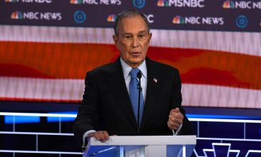 News - Democratic presidential hopeful former New York Mayor Mike Bloomberg speaks during the ninth Democratic primary debate of the 2020 presidential campaign season at the Paris Theater in Las Vegas, Nevada. (Photo by MARK RALSTON/AFP via Getty Images)