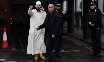 HEADLINE STORY - A scene outside the London Central Mosque, after a man stabbed the muezzin  (Photo: Simon Dawson/Reuters)