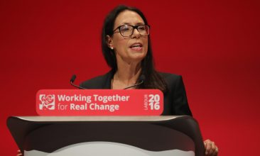HEADLINE STORY - LIVERPOOL, ENGLAND - SEPTEMBER 26:  Debbie Abrahams. Shadow secretary of work and pensions, addresses delegates on the second day of the annual Labour party conference at the ACC on September 26, 2016 in Liverpool, England. Shadow Chancellor John McDonnell has stated that if in power a Labour government would create a 'manufacturing renaissance'. Labour would also support traditional manufacturing and industry with government 'intervention' if needed. Mr McDonnell has also rejected claims that the party is anti-enterprise.  (Photo by Christopher Furlong/Getty Images)