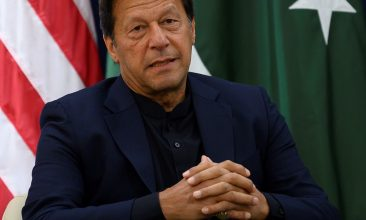 FOOTBALL - FILE PHOTO: Pakistan Prime Minister Imran Khan.(Photo by JIM WATSON/AFP via Getty Images)