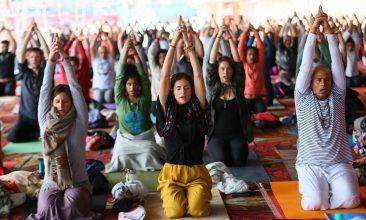 INDIA - FILE PHOTO: International Yoga Festival (IYF) at Parmarth Niketan at Rishikesh, India.