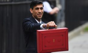 Business - FILE PHOTO: Chancellor of the Exchequer, Rishi Sunak holds up the Budget box as he presents the annual Budget at Downing Street on March 11, 2020 in London (Photo: Peter Summers/Getty Images).