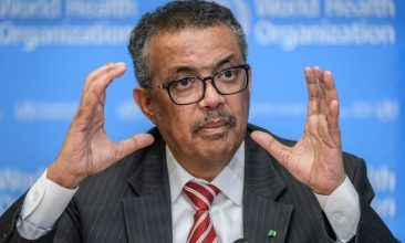 HEADLINE STORY - World Health Organization (WHO) Director-General Tedros Adhanom Ghebreyesus talks during a daily press briefing on COVID-19 virus at the WHO headquaters in Geneva on March 11, 2020. (Photo by FABRICE COFFRINI/AFP via Getty Images)