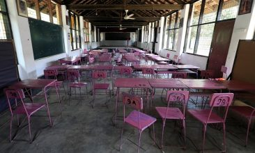 News - A view of an empty classroom after the government issued an order to close all schools in the country until April 20 as its first coronavirus case was confirmed, in Colombo, Sri Lanka March 13, 2020 (Photo: REUTERS/Dinuka Liyanawatte).