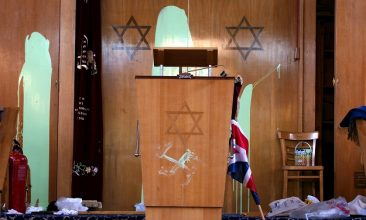 HEADLINE STORY - Race hate crimes accounted for around three quarters of offences (78,991) and rose by 11 per cent on the previous year. Incidents based on the victim's religion rose three per cent to 8,566 (Photo of Finsbury Park Synagogue in London by Sion Touhig/Getty Images).