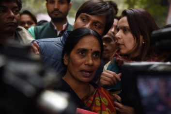 Column - The mother of Indian gangrape victim 'Nirbhaya' (C) talks to the media (Photo: MONEY SHARMA/AFP via Getty Images).