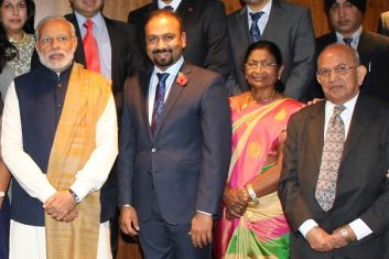HEADLINE STORY - Memories: Narendra Modi (left) with Ramniklal Solanki (right).